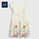 Gap 女幼童 甜美風格荷葉邊飾洋裝 539932-植物花朵圖案