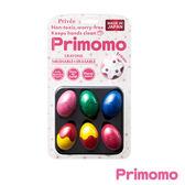 Primomo普麗貓趣味蠟筆(蛋殼型)6色-附橡皮擦