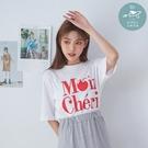 T恤 韓國空運!櫻桃英文印字棉質上衣-B...