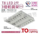 TOA東亞 LTT-H23452XHV3AA  LED 6.5W 2呎 3燈 6500K 白光 全電壓 輕鋼架 節能燈具 _TO430132