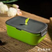 保溫便當盒 日式飯盒單層便當盒兒童分格餐盒微波爐保溫卡扣學生飯盒  XY6737【男人與流行】