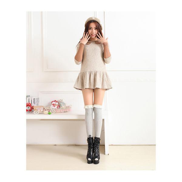 長筒襪 蕾絲 薄款 時尚 過膝襪 長筒襪【FS035】 icoca  12/08