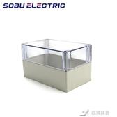 戶外防水盒 200*120*113mm透明蓋密封戶外防水開關接線塑料ABS電氣監控電源盒 樂芙美鞋