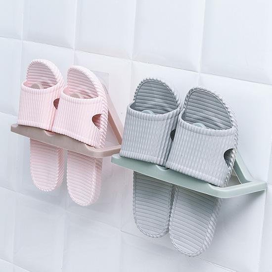 壁掛式拖鞋掛架 居家 黏貼鞋架 浴室 牆上拖鞋架 家用 立體  鞋子收納架 鞋架 【N113】MY COLOR