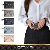 【韓國直送】皮夾 韓國omnia小貓純色真皮折疊短夾 錢包 NO.3265C
