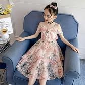 女童網紅爆款洋裝夏裝2021新款兒童雪紡洋裝中大童洋氣公主裙9 幸福第一站