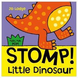 『小動物的伸展操 』 STOMP ! LITTLE DINOSAUR /幼兒操作書  (知名作家:Jo Lodge的操作書)