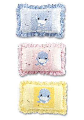 【奇買親子購物網】酷咕鴨KU.KU. 中童枕(藍色/粉色/黃色)