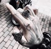 金箍尾指戒指鈦鋼扳指個性韓男士裝飾品【小酒窝服饰】