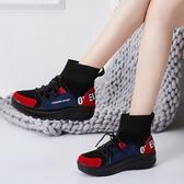 雪地靴 輕量彈力襪厚底防滑朝流雪地靴 35-42 紅黑色 #mnk2095 ❤卡樂❤