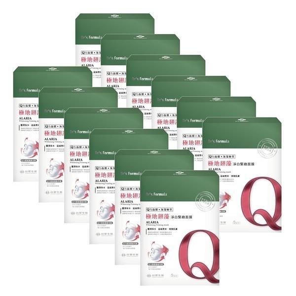 【南紡購物中心】《台塑生醫》Dr's Formula極地翅藻淨白緊緻面膜(5片裝)*12盒入