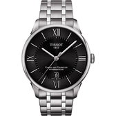 TISSOT 天梭 杜魯爾系列機械動力80手錶-黑/42mm T0994071105800