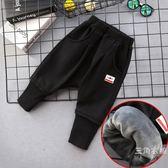 男童褲子秋裝兒童哈倫褲復合一體加絨夏季裝季寶寶長褲休閒褲大PP褲