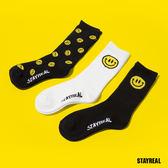 STAYREAL BE HAPPY 襪子組(3入一組)