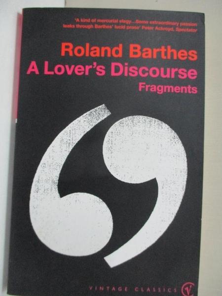【書寶二手書T4/兩性關係_APS】A Lover's Discourse_Roland Barthes