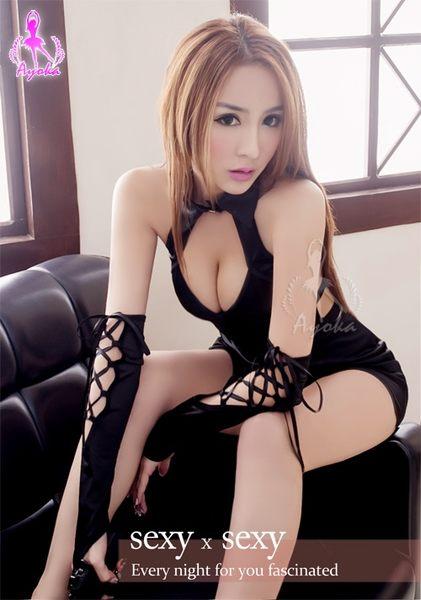 快樂天堂情趣用品  變裝派對   旋風黑四件式賽車女郎角色扮演服