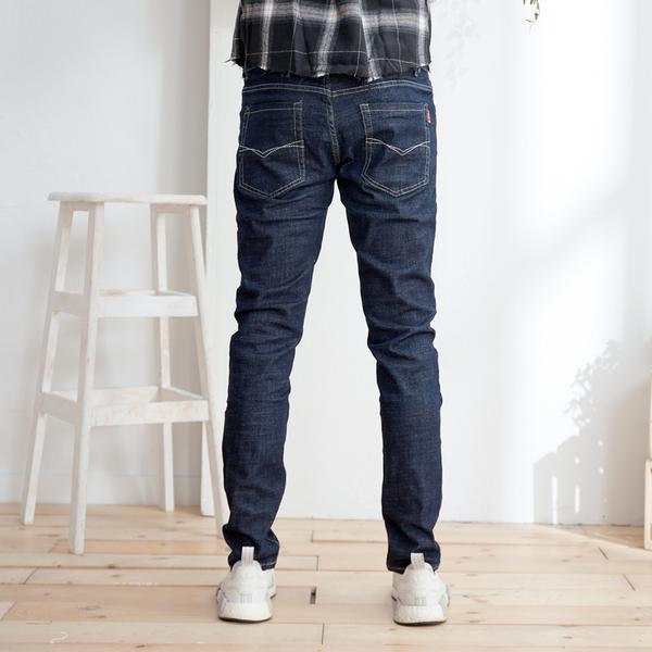 質感修飾繡線牛仔褲
