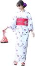 Nishiki【日本代購】和式浴衣+束腰帶2件套 女士成人用 - 撫子に金魚