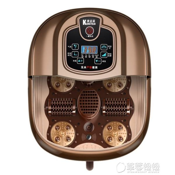 200V全自動足浴盆加熱洗腳盆足療按摩電動深桶足浴器   草莓妞妞