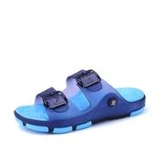 男拖鞋男士涼拖鞋夏季一字拖鞋時尚沙灘鞋浴室內外穿防滑洞洞鞋潮