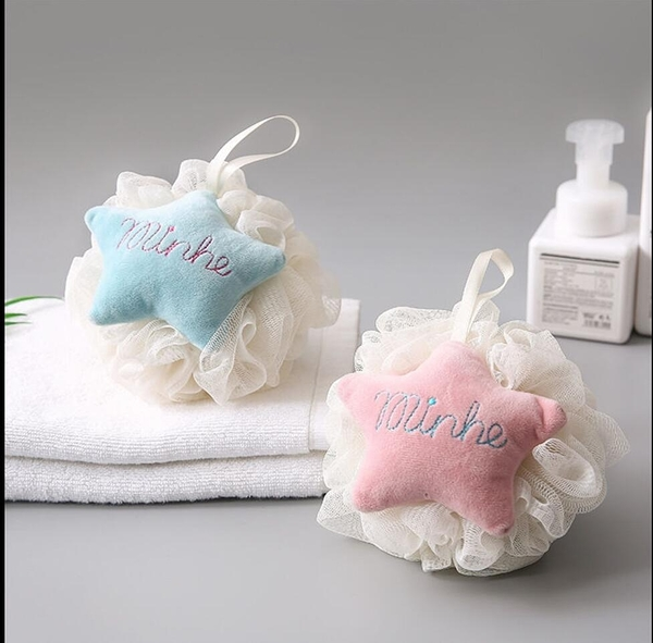 星星可愛洗澡沐浴球泡澡球搓澡成人搓背起泡洗浴用品沐浴花洗澡巾