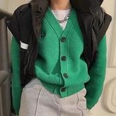 長袖針織外套 毛衣法式針織開衫女年秋長袖外套復古溫柔毛衣上衣MA124 胖丫