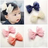 多層網紗蝴蝶結髮夾 兒童髮飾 造型髮夾 頭飾
