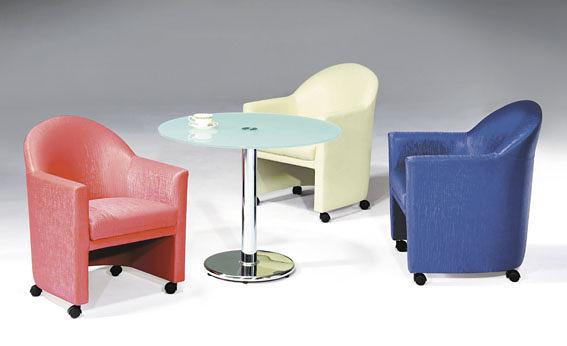 MS75-CSV-34     洽談椅 / 沙發椅-緹花布-單張-不含茶几