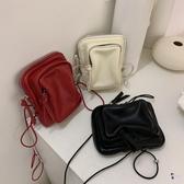 胸包 韓國上新質感小包個性抽繩胸包背包ins風單肩包時尚休閒腰包 3色