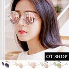 OT SHOP太陽眼鏡‧韓系質感圓框抗U...