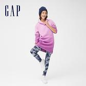 Gap女童 可愛印花彈力內搭褲 881487-灰藍色