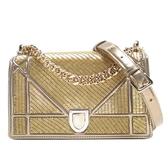 Dior 迪奧 金色串珠x香檳金漆皮肩背包 Diorama Flap Bag 金色限定【BRAND OFF】