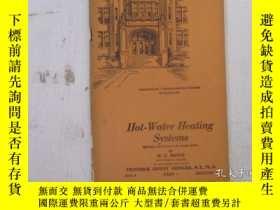 二手書博民逛書店民國:Hot罕見Water Heating Systems【USA】 房屋工程建造系列Y23766