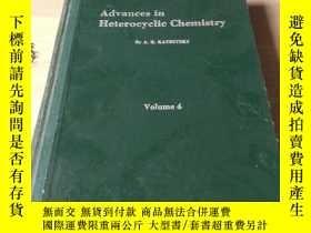 二手書博民逛書店Advances罕見in heterocyclic Chemis