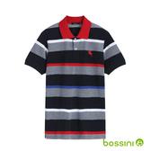 彈性立領POLO衫02灰藍-bossini男裝