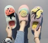 棉拖鞋女冬新款可愛卡通居家拖鞋家用厚底防滑保暖月子鞋 韓國時尚週