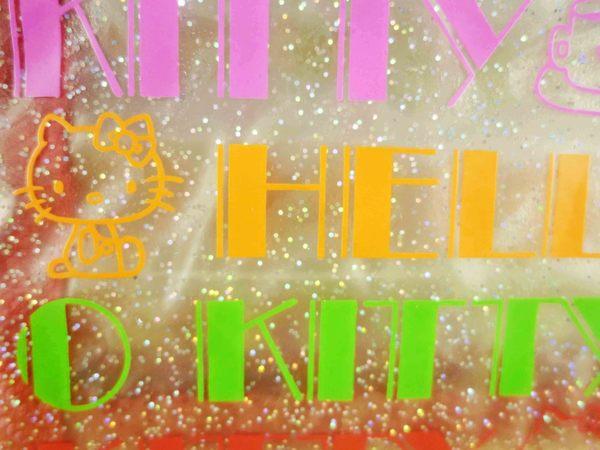 【震撼精品百貨】Hello Kitty 凱蒂貓-凱蒂貓皮夾/短夾-透明紅英文