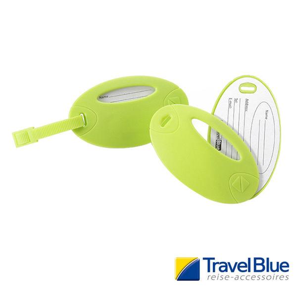 英國Travel Blue藍旅 螢光行李掛牌 青綠色 2入 露營│登山│戶外│旅遊│出國│背包掛牌TB015A