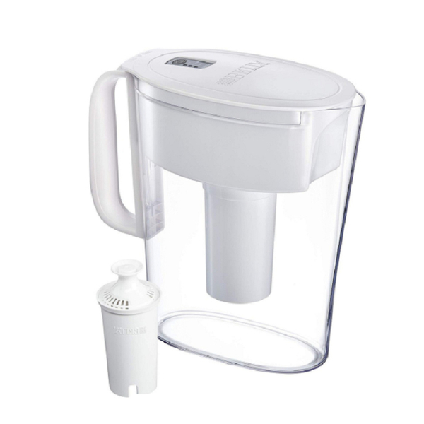 [9美國直購] 濾水壺 Brita Metro Pitcher with 1 Filter, BPA Free, 5 Cup, White B015SY3W7K