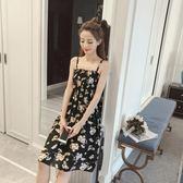 洋裝  連身裙韓版裹胸修身碎花小清新抹胸高腰顯瘦吊帶連身裙裙子艾維朵