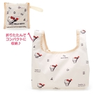 小禮堂 Hello Kitty 折疊尼龍環保便當袋 折疊環保袋 環保購物袋 午餐袋 (米 叉子) 4550337-54363
