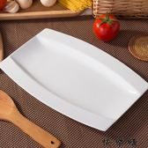 日式魚盤骨瓷碟子大號蒸魚盤子