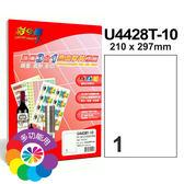 彩之舞 進口3合1亮面膠質防水標籤  U4428T-10