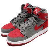 Nike Air Jordan 1 Retro Hi PREM BG 灰 紅 迷彩 反光 女鞋 大童鞋【PUMP306】 822858-032