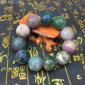 南京天然雨花石瑪瑙手串水草花瑪瑙手鍊水晶大顆20MM男士事業轉運