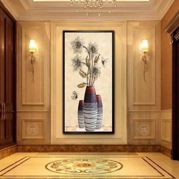 入戶玄關裝飾畫客廳現代簡約走廊過道招財風水走廊牆壁畫北歐掛畫WD