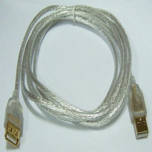 i-wiz  USB 2.0 A公A母 透明延長線 5M