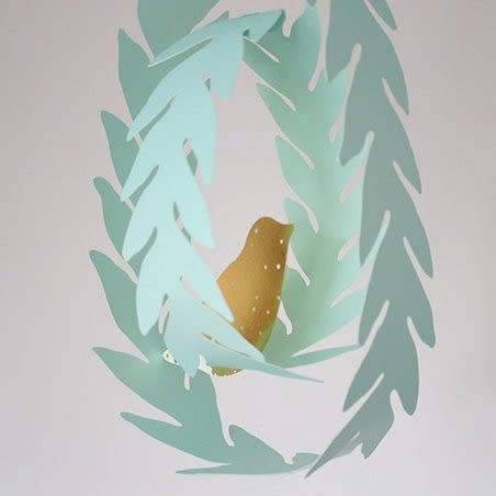 韓國家居zakka風森林系自由鳥卡片DIY立體吊卡 派對佈置 吊飾道具 兒童房裝飾 會場佈置