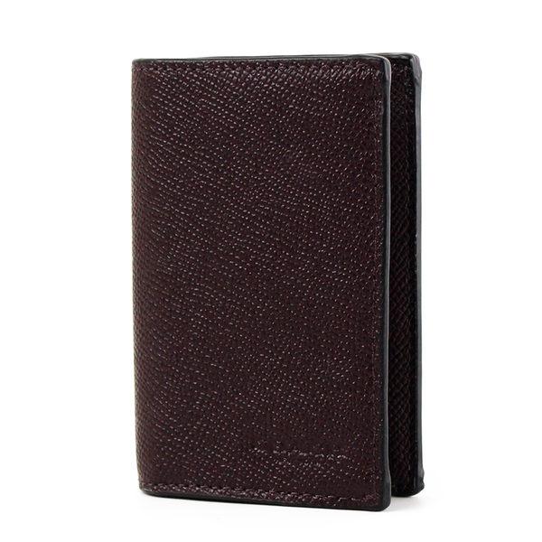 美國正品 COACH 男款 防刮皮革對折名片/證件套-咖啡色【現貨】