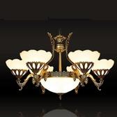【AJ110】歐式吊燈6燈9178-6+3 (免運) 復古客廳燈 臥室燈 照明燈具 吸頂吊燈 EZGO商城